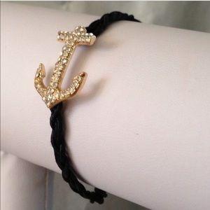 Anchor bracelet in black